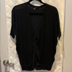 Short sleeve button down cardigan